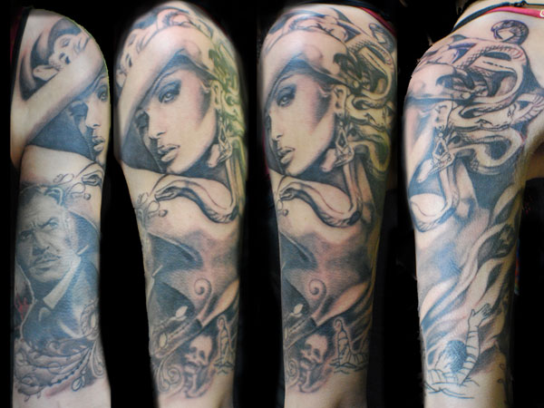 Elegant Medusa Tattoo Photos