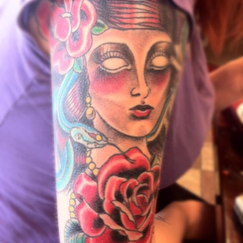 Medusa Tattoo by Kristy Nadel of Landmark Tattoo