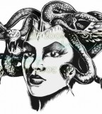Fancy Medusa Tattoo Design by Jamie W