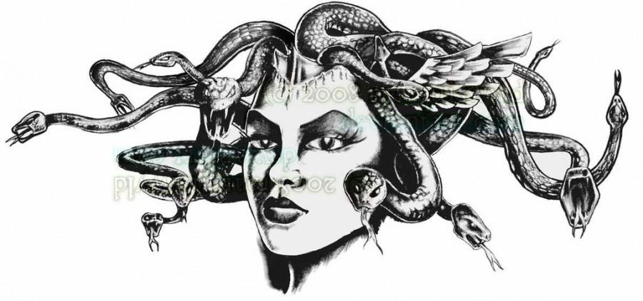 Fancy Medusa Tattoo Design by Jamie W