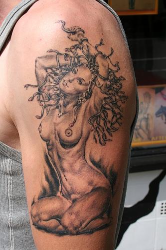 Beautiful Medusa Tattoo by Mirek vel Stotker