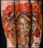 Fascinating Medusa Tattoos by Jeff Ensminger