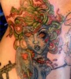 Charming Medusa Tattoo Picture