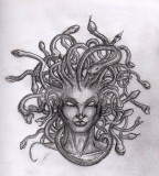Medusa Tattoo Design Sample by Justchrishere