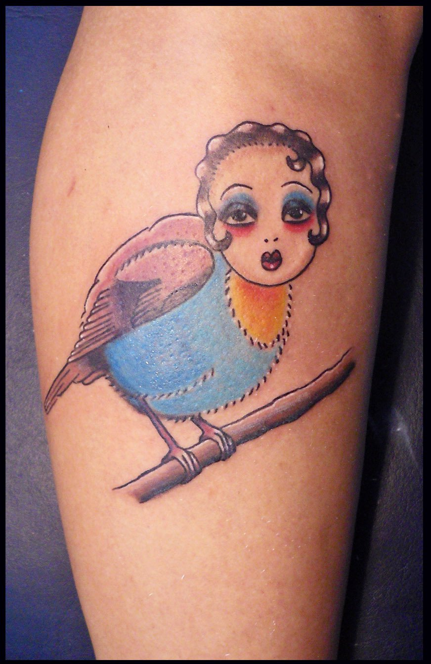 Bird With Girl Face – Tattoos For Girls
