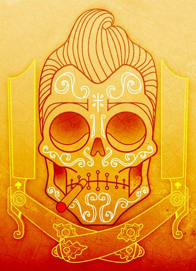 Nice Greaser Mexican Skull Tattoo (Deviantart)
