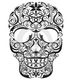 Outline Drawing of Human Skull Tattoos Designs Tribal Sugar & Evil
