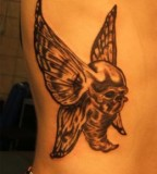Skull-headed Butterfly Tattoo Design Picture - Skull Tattoos