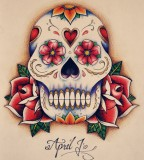 Mexican Skull Tattoo Designs - Skulls and Roses Flowers Tattoo