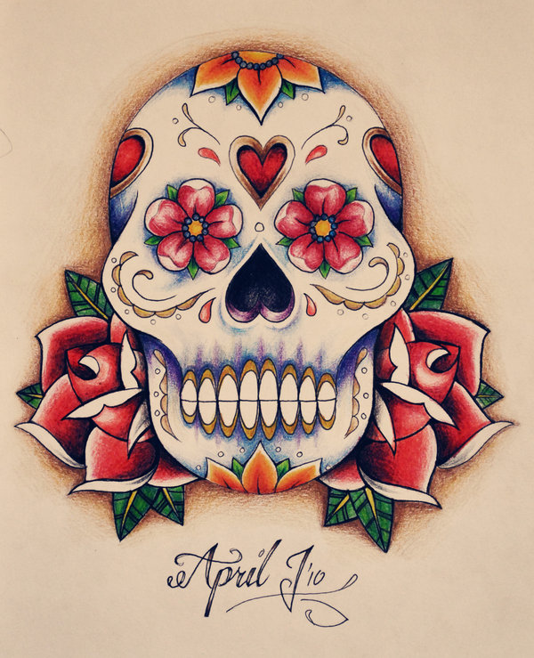1341684e9 Mexican Skull Tattoo Designs - Skulls and Roses Flowers Tattoo ...