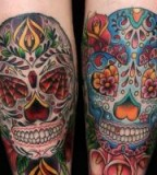 Mexican Skull Sleeve Tattoo Art - Skull Tattoo Designs