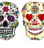 Mexican Skulls Couple Tattoo Art