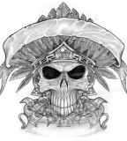Awesome Mexican Skull Tattoos Design Sketches Drawing - Grim Reaper Tattoos