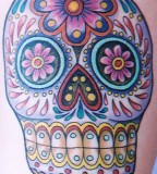 Mexican Sugar Skull Inspired Tattoo Art