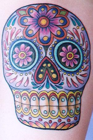 Mexican Sugar Skull Inspired Tattoo Art