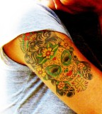 Lovely Mexican Sugar Skull Tattoos for Women - Skull Tattoos