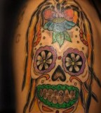 Tattoo Design of Sugar Skull Tattoos - Mexican Sugar Skull Tattoos