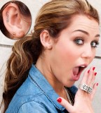 Pictures Of Miley Cyrus Love Tattoos At The Right Ear