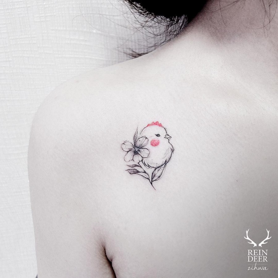 minimalistic-bird-and-flower-tattoos
