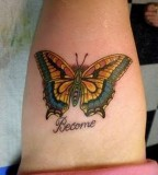 Beautiful Monarch Butterfly Tattoo on Thigh / Legs for Women - Butterfly Tattoos