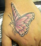 Feminine Purple-Winged Monarch Butterfly Tattoos for Women - Butterfly Tattoos