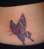 Exotic Purple-Winged Monarch Butterfly Tattoos for Women - Butterfly Tattoos