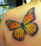 Beautiful Monarch Butterfly Back-Shoulder Tattoos for Women - Monarch Butterfly