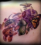 Monarch Butterfly Life-Cycle Tattoo - Monarch Struggle Philosophy & Meaning