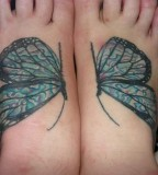 Feminine Foot Tattoo for Women of Monarch Butterflies - Butterfly Tattoos