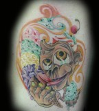Cartoon Monkey Tattoos Art