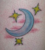 Khalil Rivera Stars And Moon Tattoo Design