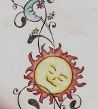 AwesomeSun Moon And Stars Sketch By Ccrum