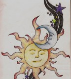 Sun Moon And Stars Tattoo Design Sketch By Ccrum