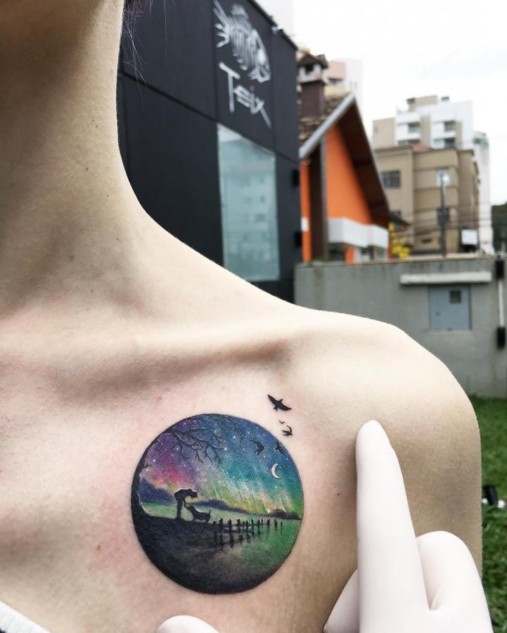 moonlight-walk-circle-tattoo