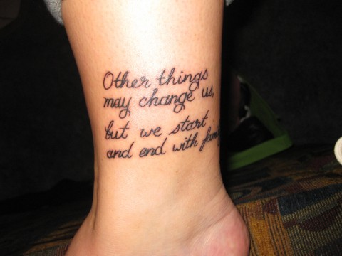 Family Quote  Tattoo from mother