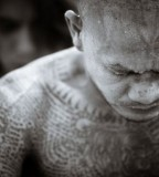 Charming Muay Thai Full Body Tattoo Sample Picture