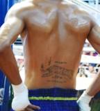 Cool Muay Thai Athlete Tattoo on Lower Back