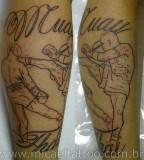 Traditional Thai Boxing Muay Thai Shaped Tattoo