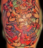 Hanuman Muay Thai Tattoo Design on Shoulder