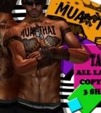 Cool Chest Muay Thai Tattoo Design Sample Picture