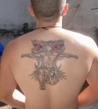 Gallant Back Muay Thai Themed Tattoo Design
