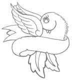 Animal Tattoo Designs Bird And Banner Tattoo Dove Ribbon Tattoo