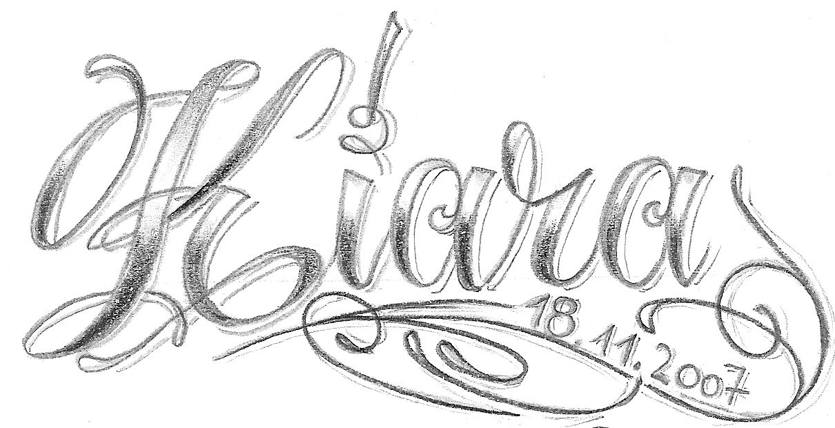 Design of Name Tattoo
