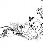 Black / White / Simple Name Tattoo Design
