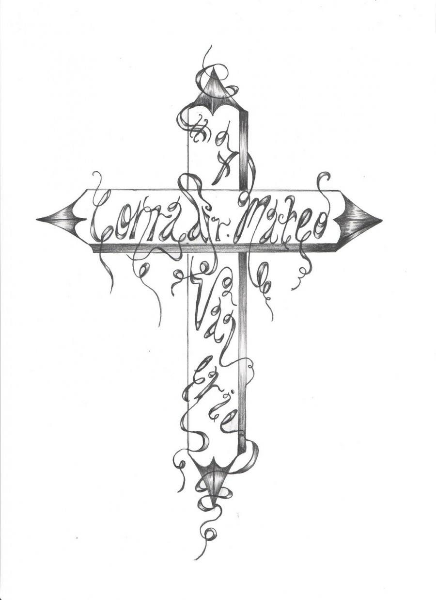 Black And White Meaning Cross Tattoo Design