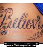 Fancy Name Tattoo Design