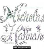 Couple Name Tattoo Design
