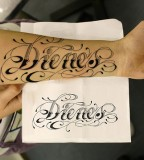 Cool Name Tattoos On Forearm Writing