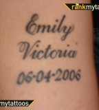 Name and Birth Date Tattoo Design Arm Tattoo