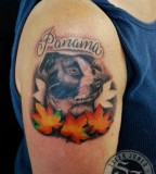 Mr Jones Dog Portrait Tattoo Design